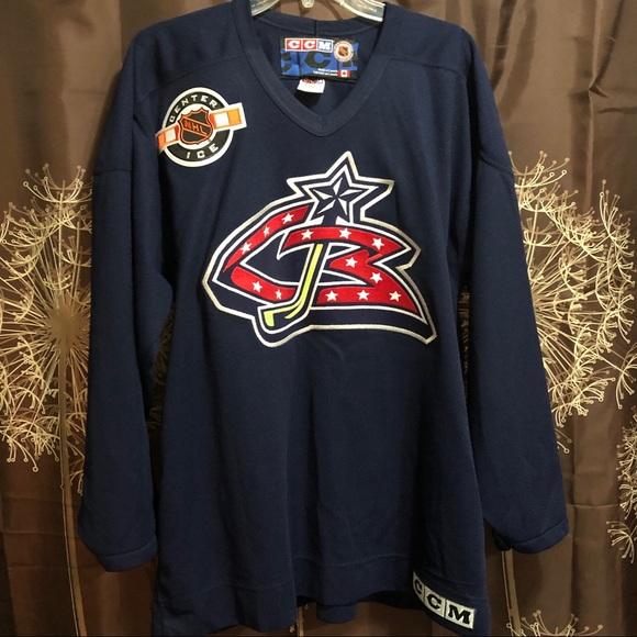 innovative design bd510 2be0d CBJ Columbus Blue JacketS Practice Jersey NHL L